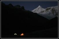 Ishinca Base Camp - Tocclaraju (6032m) behind - Cordillera Blanca