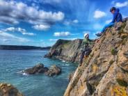 Climbing Cowpat at Becks Point