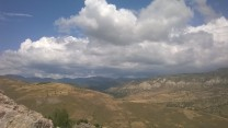 At last - a nice view from the top of a sports route.  Xeros river valley, Cyprus.