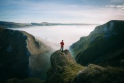 Ben checking out the cloud inversion in Winnats Pass.<br>© www.samtaylorphoto.co.uk