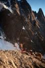 Bivy below Fissure Brown