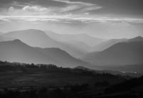 Haze over Lake District fells