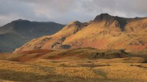 Early morning view of the Langdales (in the Lakes) from Silver How