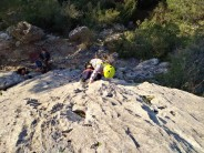 Great for beginner climbers ... Hannah (6) on her first lead.