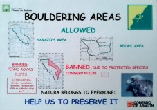 Jan 2019 access restriction sign in Albarracin car parks