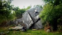 Granite Bouldering in Eskdale. Bad photo but a brilliant climb
