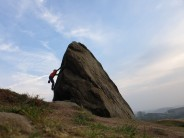 Bouldering on a beautiful February late afternoon