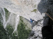 Superb climbing on the Frisch Corradini's excellent rock
