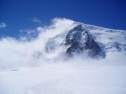 A stormbound Mont Blanc du Tacul.