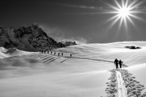 approaching Argentiere glacier