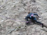Ella on Hare Crag