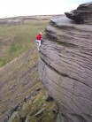 Soloing the Catwalk (VS 4a) at Dovestones
