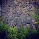 Sport climb at Llanymynech Quarry