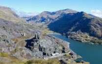 Looking up Llanberis Pass from Dinorwig slate quarry
