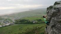 Bouldering on Hillend Ridge