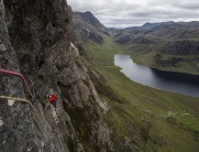Following the P2 traverse of Gob, at the remote and wonderful Carnmore Crag