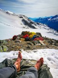 Too hot to bivvy in the Alps last week