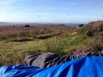 Watching the Perseid meteor shower from Derwent Edge