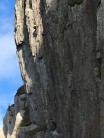 Dave Greenald on the first ascent of Custard Pie