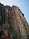 Climbed on the left of the arete