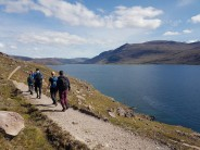 Returning from Bein Ghobhlach along the coastal path next to Little Loch Broom.