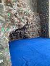 Boulder area at Hertfordshire University Climbing Wall