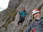 Hanging out at the belay p2 of Ardverikie Wall HS 4b***