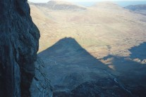 high on Grooved Arete, Tryfan