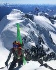 Steep skiing on Dione, Tantalus range
