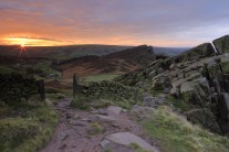 Sunrise this morning over hen cloud from the Roaches