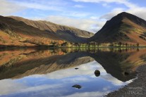 Fleetwith Pike reflected in buttermere, Lake District