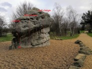 Carl's Delight, The Magical Mushroom Boulder (A), fairlop Boulder Park