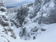 Topping out on the Couloir
