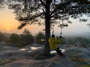 Waiting for the sun in Fontainebleau