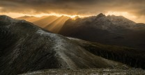 Sunset Behind Cuillin Ridge