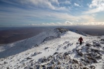 View of the South East Ridge from the summit of Ben More Assynt