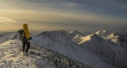 Descending Binnein Mor at the end of the day<br>© Highland Days
