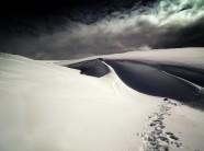 Footprints across the Ochils.