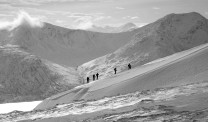 Skiing the edge of Knoydart