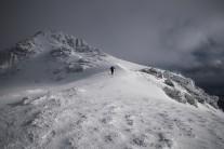 Nearing the summit of Ben Lomond by way of the Ptarmigan Ridge