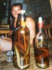 Le Saussois snake juice, two bottles demolished -  1986.