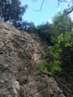 New route on the Monolith West Face.