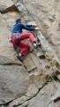 Henrik Overballe climbing Life of the Quarrymen<br>© Cragcloud