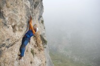 Peter Rosso working the aptly named route 'No Country for Vegans'.