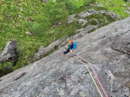Garry on the first ascent