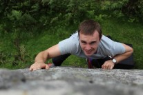 Not sure what the grimace was for, it's a nice climb!