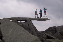 Rocking the Cantilever on Glydar Fach summit