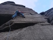 Nat on overhanging buttress direct