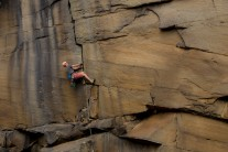 Blind Ambition: Jesse Dufton on his non-sight lead of Forked Lightening Crack at Heptonstall