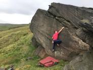 Lovely steep slab climbing